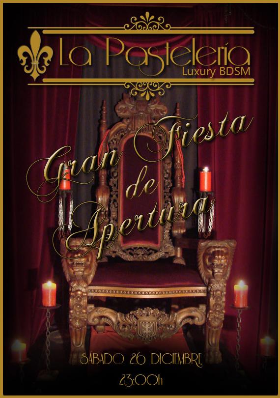 FIESTA DE APERTURA DE LA PASTELERIA BDSM (MADRID). 26 DICIEMBRE.