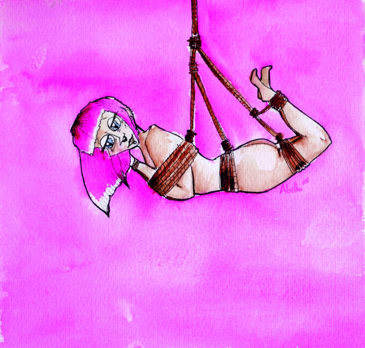 """DIANA ABELLÁN NOS PRESENTA SU SERIE """"DINAMITA"""" (Ilustraciones Bdsm)"""