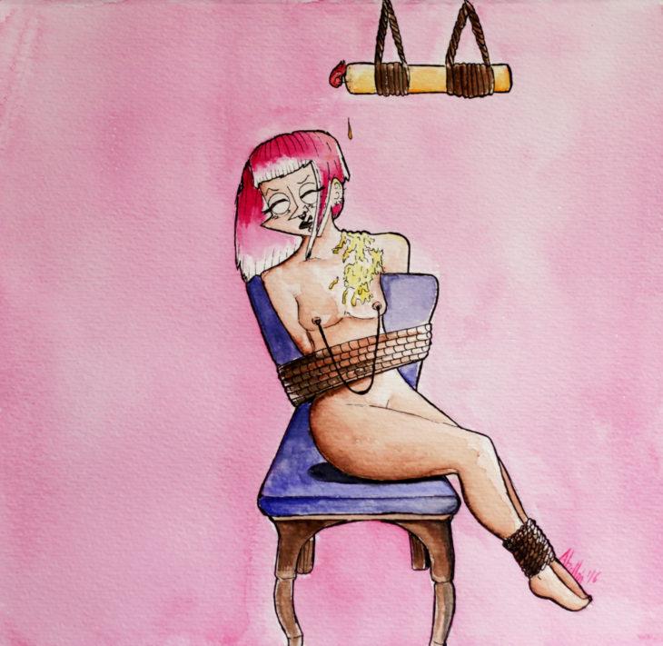 """LA SUMISA """"DINAMITA"""" DE DIANA ABELLÁN (Ilustraciones Bdsm)"""