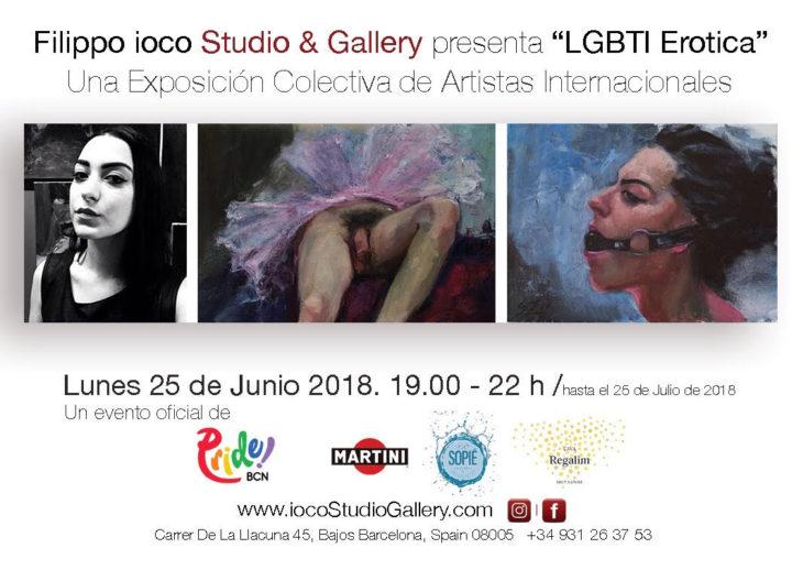 EXPOSICIÓN LGTBI ERÓTICA EN PRIDE BARCELONA 2018